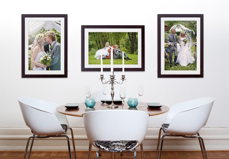 Classic Dark Frame Wedding Photos