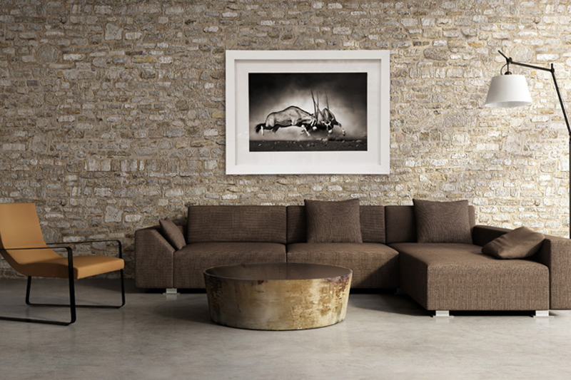 White Frame Stone Wall
